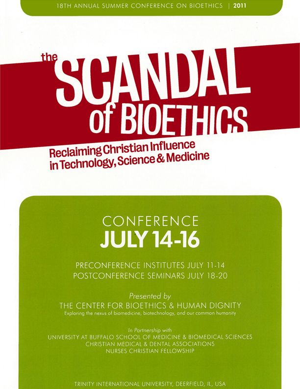 CBHD 18th Annual Conference - The Scandal of Bioethics
